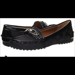 "NEW-COACH ""Fortunata"" Black Driving Loafers-5.5M"